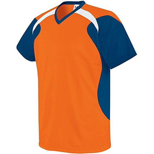 High Five Sportswear High Five Tempest Jersey-Youth,Orange/Navy/White,Medium ()