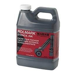 MARSH Rolmark Stencil Ink, 1 qt Can, Black