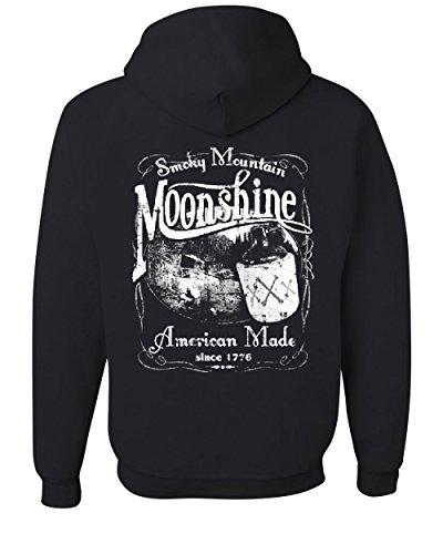 (Smoky Mountain Moonshine Hoodie Tennessee Whiskey Sweatshirt Black XL)