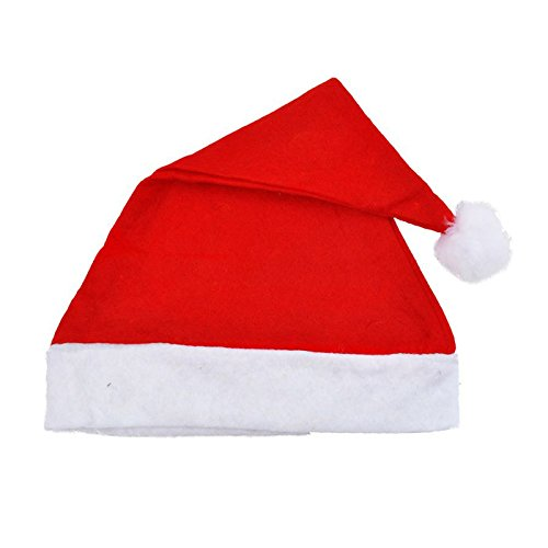 Fabal Christmas hat 1pc/5pc Adult Unisex Adult Xmas Red Cap Santa Novelty Hat for Christmas Party (1pc)