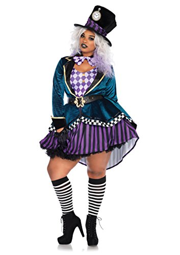 Leg Avenue Women's Plus Size Mad Hatter Costume, Multi 1X / -