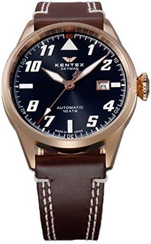 ケンテックス KENTEX 腕時計 S688X-18 スカイマンパイロットアルファ クォーツ グレー ダークブラウン ユニセックス【国内正規品】 [並行輸入品]