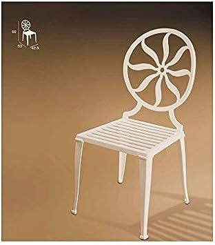 Forja Hispalense Silla de Aluminio Marsella - Blanco: Amazon.es: Hogar