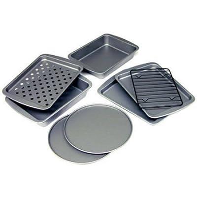 BakerEze 8-Piece Non-stick Toaster Oven Set