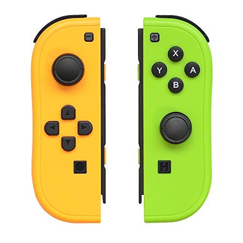Joy-Con Controller Replacement for Nintendo Switch,Left and Right Controllers with Straps Support Wake-up Function (Yellow and Green)