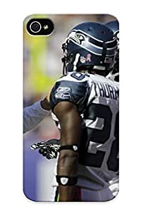 Anti-scratch And Shatterproof Seale Seahawks Nfl Football Sport Phone Case For Iphone 4/4s/ High Quality Tpu Case