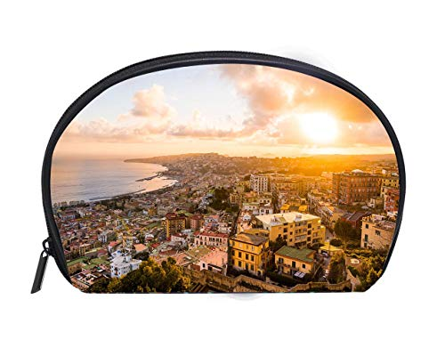 Portable Toiletry Cosmetic Bag Naples Italy Travel Cosmetic Case Luxury Makeup Artist Bag