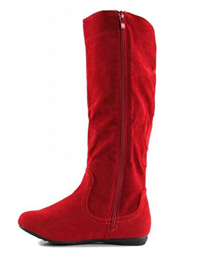 Boots Footwear Fringe Red Women Western Metro Kali High Knee SH0qFF