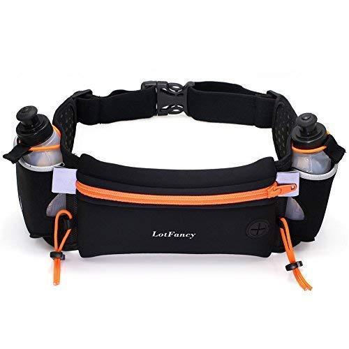 - LotFancy 10A-1366-N Women and Men Running Fuel Belt with Water Bottle (BPA Free), Orange