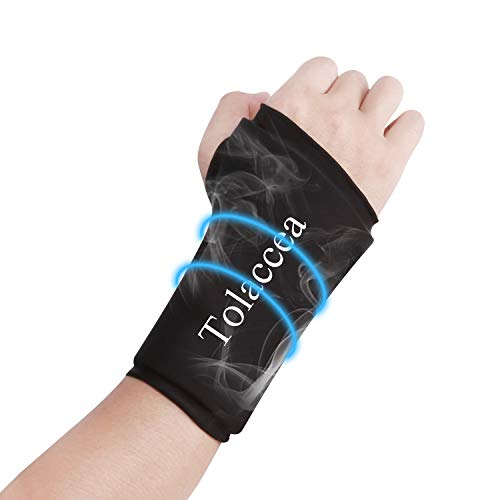 Wrist Ice Wrap Compression Sleeve Wrist Ice Pack Wrap Hot & Cold Therapy for Pain Relief Wrist Gel Cold Pack for Carpal Tunnel Tendonitis Injuries Swelling Rheumatoid Arthritis Bruises & Sprains(L)