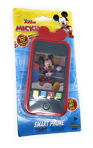 Kids Toy Smart Phone with Realistic Sounds and Soft Case (Mickey Mouse) (Mickey Mouse Cell Phone)