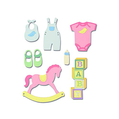 (Sizzix 663365 New Baby #2 Dies One Size Multicolor)
