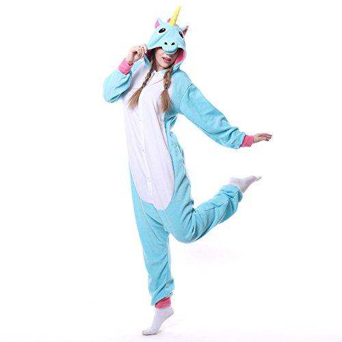 ZEALOVE Adult Purple Kigurumi Unicorn Onesie Pajamas Cosplay Costumes Animal Outfit X-Large