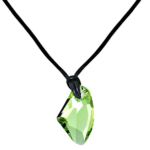 Body Candy Green AvantGarde Leather Necklace Created with Swarovski Crystals (Swarovski Leather Necklace)