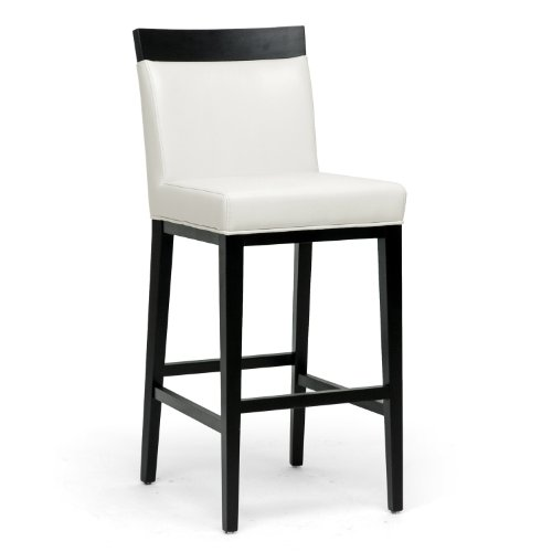 Baxton Studio Clymene Black Wood and Cream Leather Modern Bar Stool Review