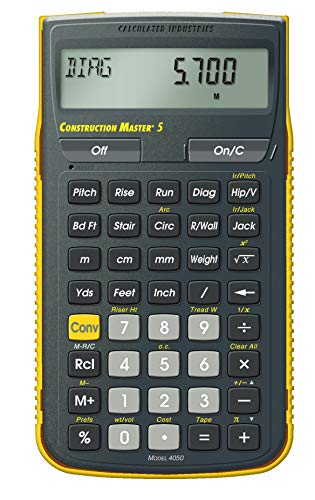 Calculated Industries 4050 Construction Master 5 Construction Calculator (Materials Patio Calculator)