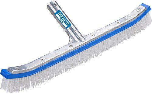 Aquatix Pro reinigingsborstel voor zwembaden, aluminium, 45,7 cm, met EZ-clips; deze robuuste borstels reinigen wanden, tegels en vloeren moeiteloos; slank design en sterke borstels