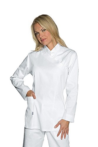 Bianco 18089 Bottoni Con Lunga Isacco Asola Cotone Manica 3xl Camice Donna 100 Bianco 7nq7PSpT