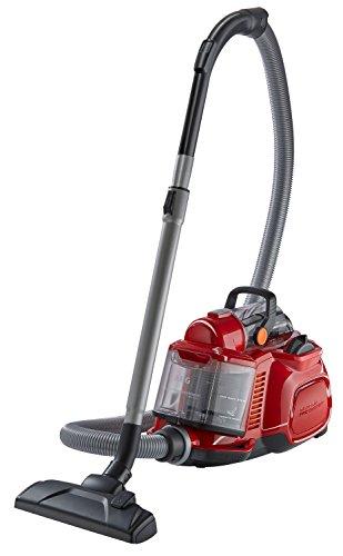 AEG Performer Cyclonic ASPC7120 Staubsauger ohne Beutel EEK A (800 Watt, inkl. Hartbodendüse, Softräder, waschbarer Hygiene E12 Filter) rot