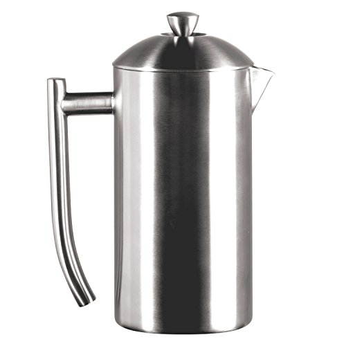 Frieling USA Double Wall Stainless Steel French Press Coffee Maker with Patented Dual Screen, Brushed, 23-Ounce (Best Coffee Maker Canada)
