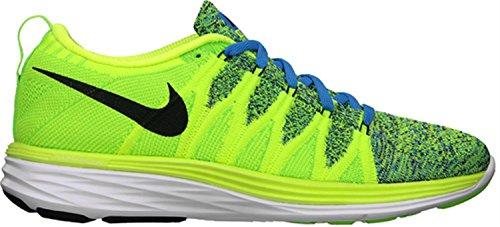 Herren 701 Schwarz Lunar2 Sportschuhe 620465 Elektrogrün Fotoblau Flyknit Running 011 Nike Volt nO6P7xw