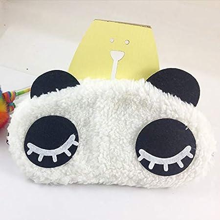 Lumanuby 12cm M/áscara de Ojos Sue/ño Antifaz de Viaje para Dormir de Peluche PandaGafas de Blackout para Hombres y Mujeres Viajes,19