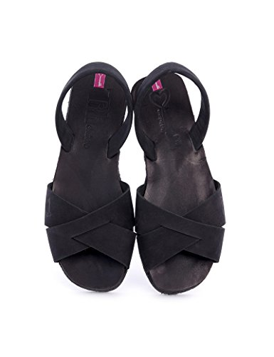 Plataforma Negro Plana Mujer Couture Titi Con Sandalias Para black Classic wxRIqA1f