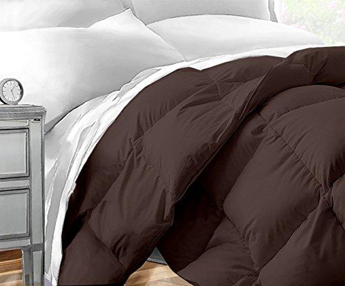 Sleep Restoration Down Alternative Comforter 1400 Series - Best Hotel Quality Hypoallergenic Duvet Insert Bedding - King/Cal King - (Cal King Chocolate)