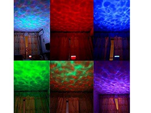 Ozean dynamischen Schlaf Nachtlicht-Lampen-Ozean-Wellen-Lampe mit Musik für Schlafzimmer Wohnzimmer Badezimmer Babyzimmer Kinderzimmer (Ozeanwellen)