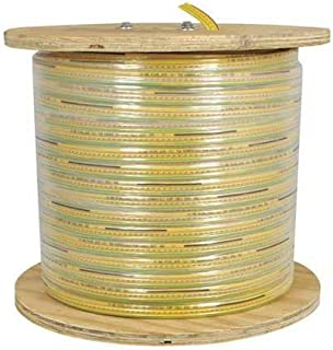 product image for KH Industries FTCB-16/12-130 Flat Festoon Cable, PVC Jacket, 12 Conductor, 16 AWG, 130' Length, Yellow