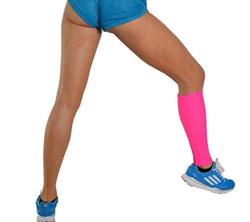 MyProSupports CALF SLEEVE Medical Sport Single Compression Shin Leg Running Muscles Support (Hot Pink, Small)