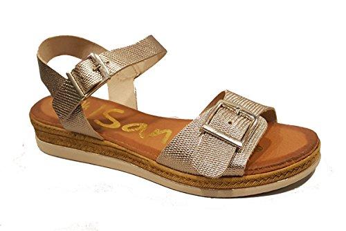 Oh my Sandals - Sandalia plana de mujer en piel - plata - 3628