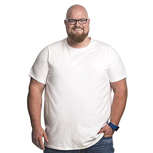 Bianco Mezzo shirt 8xl Girocollo 120 178 Rotondo Per Appositamente Cm Collo Uomo Maglietta Oversize Uomini Tee Gli Xxl Progettato shirt T aRvnq8C