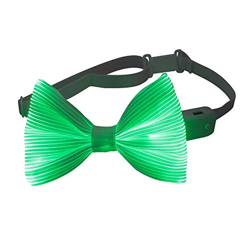 Light Up Bow Tie 7 Colors Changing LED Bowtie - 1clienic USB Rechargeable Glow Luminous Tie Christmas Halloween Valentine Rave EDC EDM Music Festival