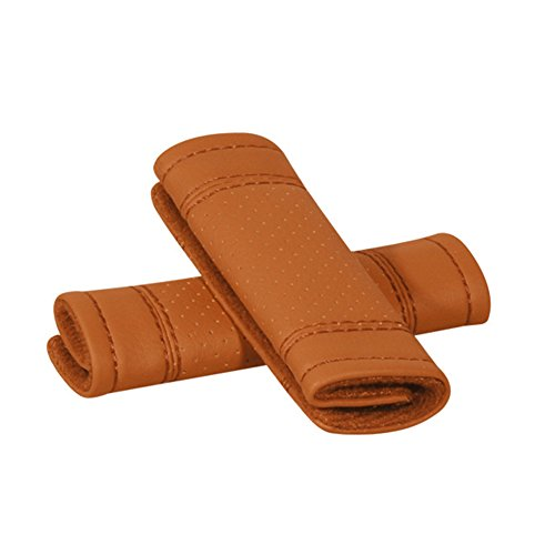 Encell Auto PU Brown Grab Handle Cover Soft Car