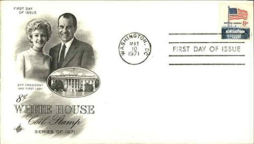 Womens Stamp Series - 37th President and First Lady 8 Cents White House Coil Stamp, Series of 1971 Original First Day Cover