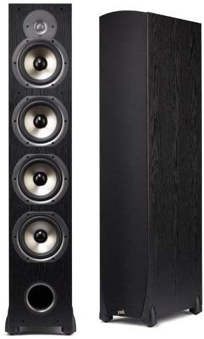 Polk Audio Monitor 75T Four-Way Ported Floorstanding Speaker Single, Black