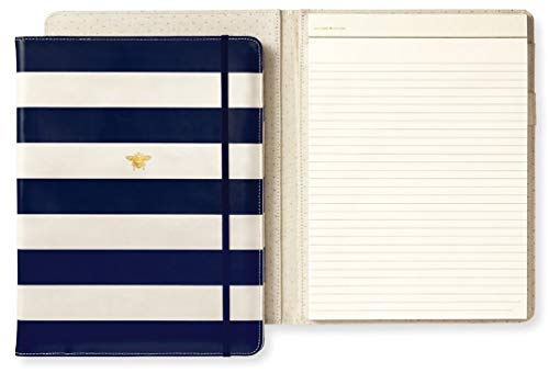 Padfolio Office - Kate Spade New York Women's Legal Notepad Folio (Navy Stripe)