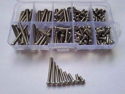 200pcs M3.5 Phillips Round Head Stainless Steel Screw Bolt Assortment Kit Set