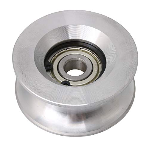 - CNBTR 10x60x25mm U Shaped Aluminum Sealed Bearing Steel 6200 Guide Pulley Rail Ball Rolling Bearing Wheel Silver