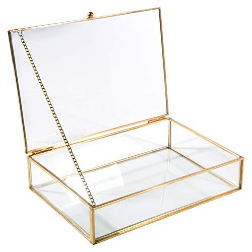 Home Details Vintage Glass Keepsake Box in Gold