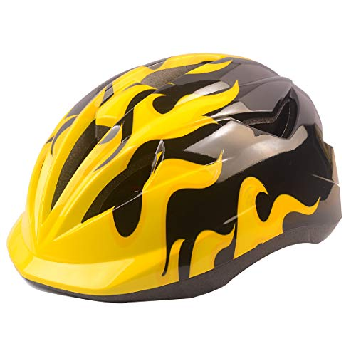 Kids Cranky Safety Helmet, Boys and Girls Safety Helmet for Roller Skating Skateboard BMX Scooter Cycling Yellow
