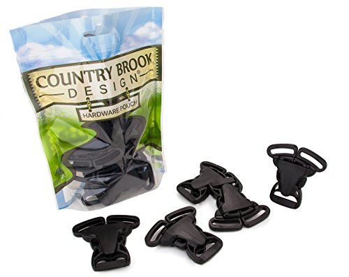 (10 - Country Brook Design | 1 Inch 3 Point Quick Release Plastic Buckle)