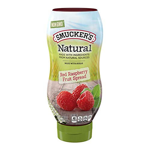 Smucker's Natural Squeeze Fruit Spread, Red Raspberry, 19 Ounce (Pack of - Red Raspberry Spread