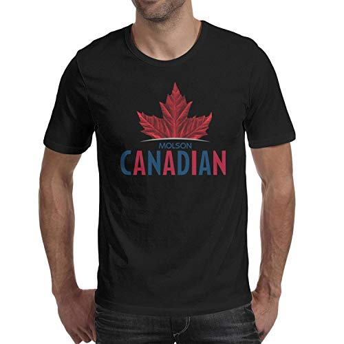 - uter ewjrt Mens Round Neck Adult Shirt Molson-Canadian-Beer-Logo- Street Fashion Tops