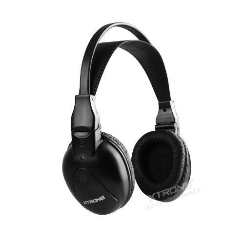 XTRONS Wireless Ir Dual Channel Stereo Headphones Infrared Headsets Cordless 2 Channels Dual Channel Infrared Stereo Headphones
