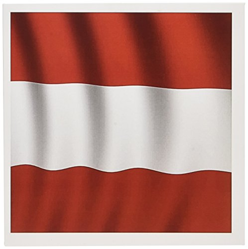 3dRose Austria Flag - Greeting Cards, 6 x 6 inches, set of 6 (gc_28221_1)