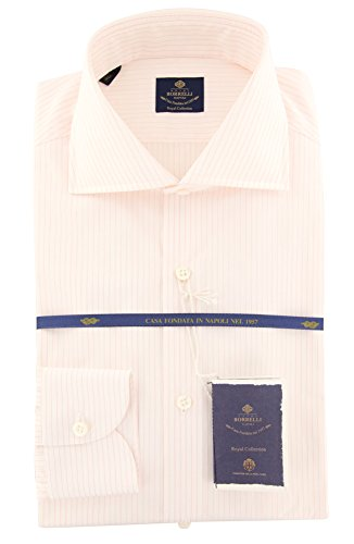 new-luigi-borrelli-pink-striped-extra-slim-shirt