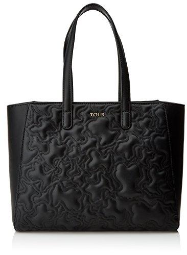 Tous Kaos Capitone, Bolso Totes para Mujer, Negro (Black), 14.5x26x33.5 cm (W x H x L)