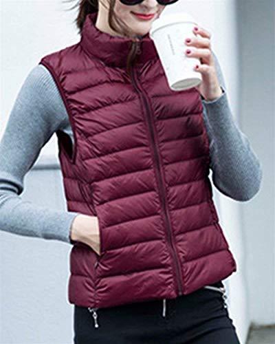 Gilet Matelass Femme Automne Elgante Oversize Gilet en Duvet Legere Fashion Vtements Casual Warm Sleeveless Jacket Manteau Vest Outerwear Grn